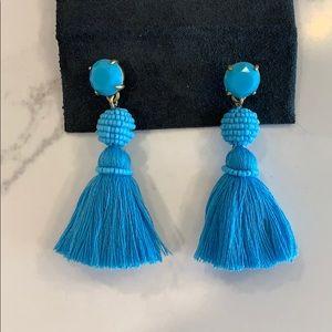 J. Crew Jewelry - J. Crew blue tassel statement earring bead drop